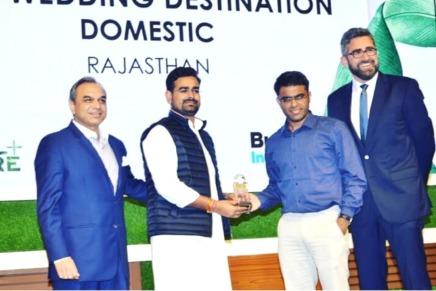राजस्थान को मिला बेस्ट वैडिंग डेस्टिनेशनअवार्ड